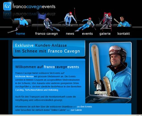 Website Franco Cavegn