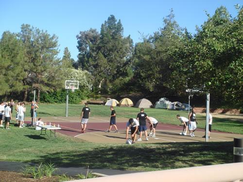 Facebook Mitarbeiter beim Basketball