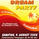 Summer Dream Party Flyer 2008