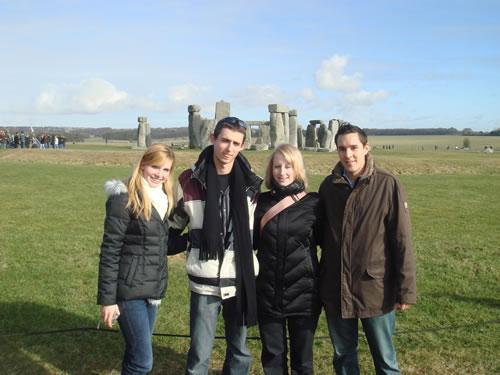 Stonehenge - Sabrina, Felix, Melanie und Stefan