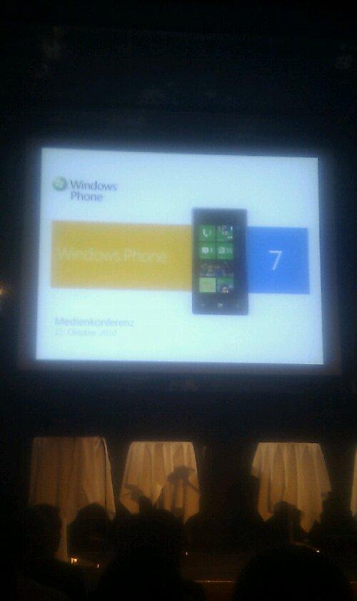 Windows Phone 7 Vorstellung