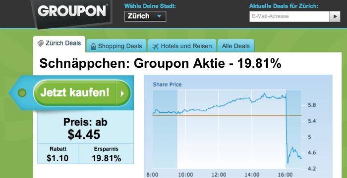 Groupon Deal - Aktie 19%