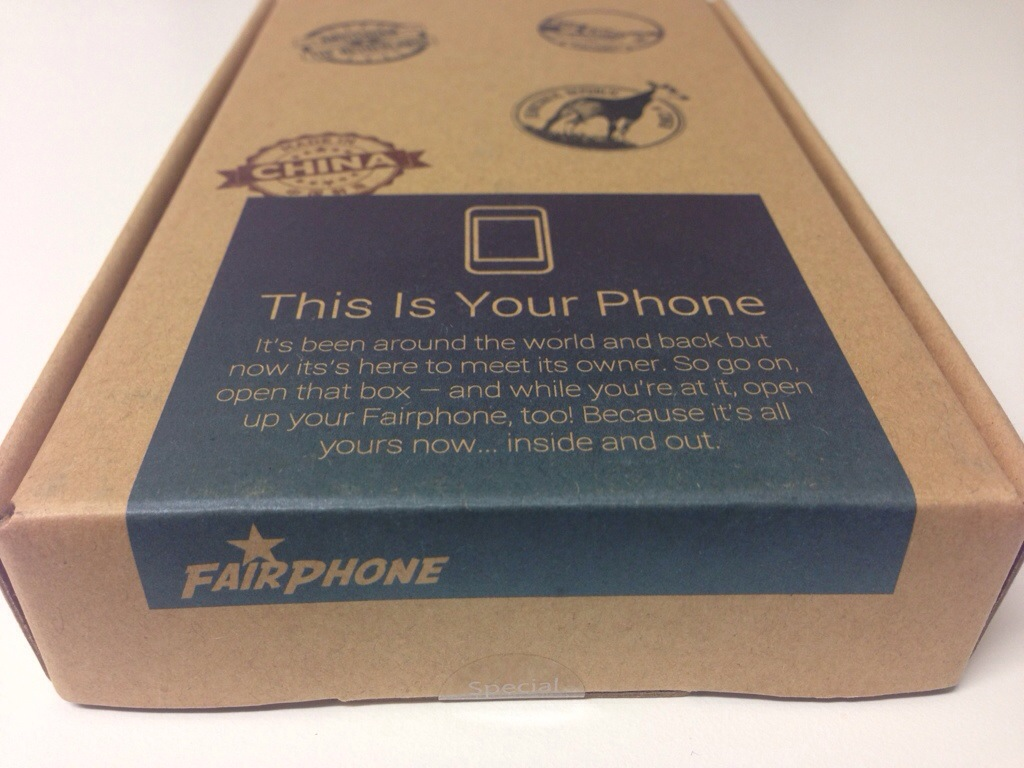 Fairphone Schachtel