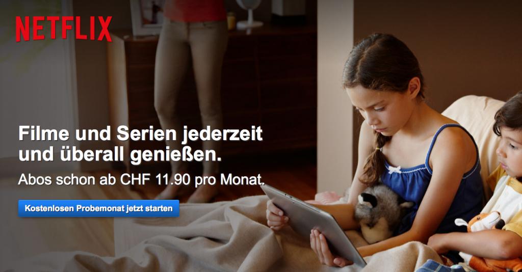 Netflix Schweiz Website